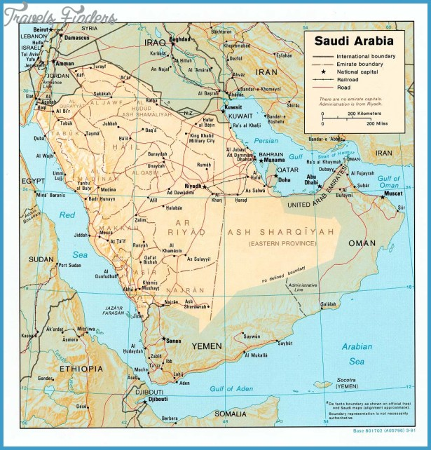 Saudi Arabia Map Tourist Attractions TravelsFindersCom