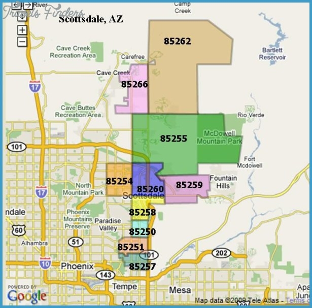 Scottsdale Zip Codes Map | Zip Code MAP