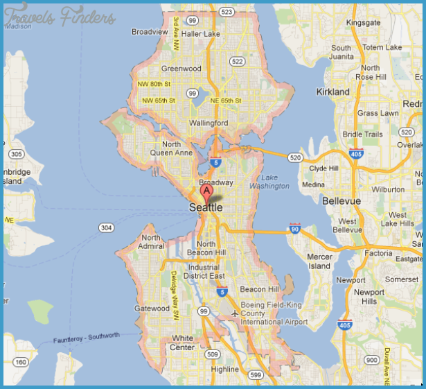 Seattle Map Tourist Attractions – Seattle Washington Map Tourist
