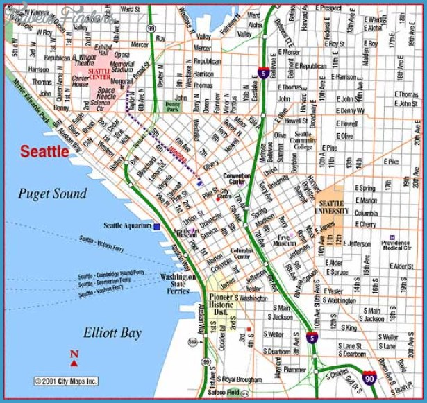 Seattle Map Tourist Attractions – Seattle Tourist Attractions Map
