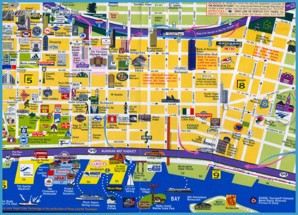Seattle Map Tourist Attractions – Tourist Map Of Seattle