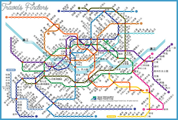 Seoul Subway Map Chinese.Seoul Metro Map Travelsfinders Com