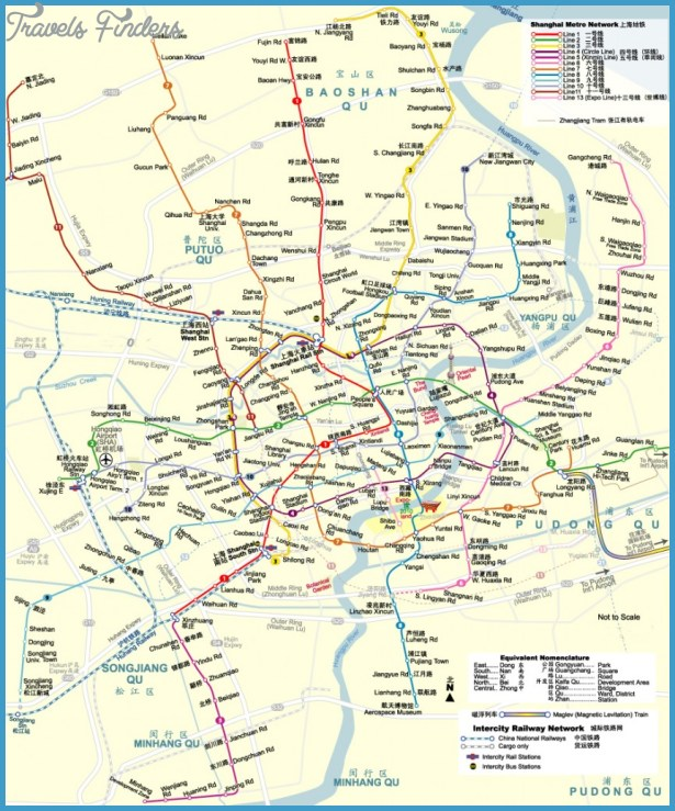 Shanghai Subway Map Travelsfinders Com