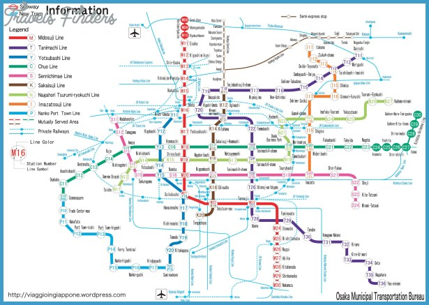 Osaka Subway Map TravelsFindersCom
