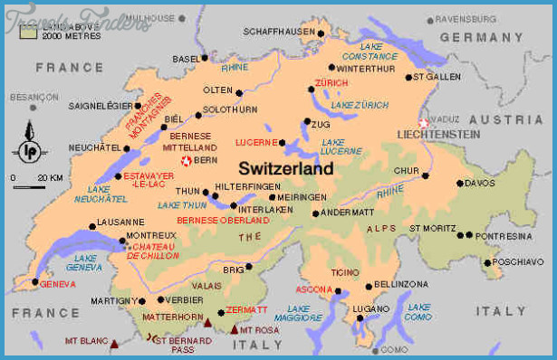 Switzerland Metro Map TravelsFindersCom