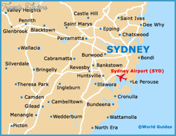Sydney Map Tourist Attractions – Tourist Map of Sydney
