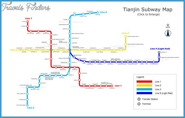 Tianjin Subway Map.Tianjin Subway Map Travelsfinders Com