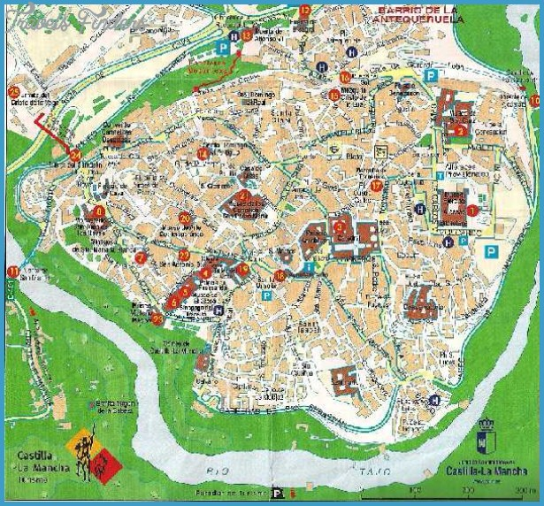Toledo Map Tourist Attractions TravelsFindersCom