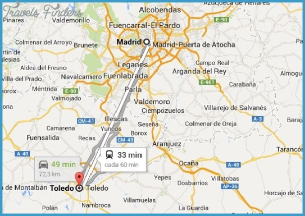 Toledo Metro Map TravelsFindersCom