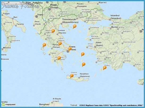 Athens Map Tourist Attractions TravelsFindersCom
