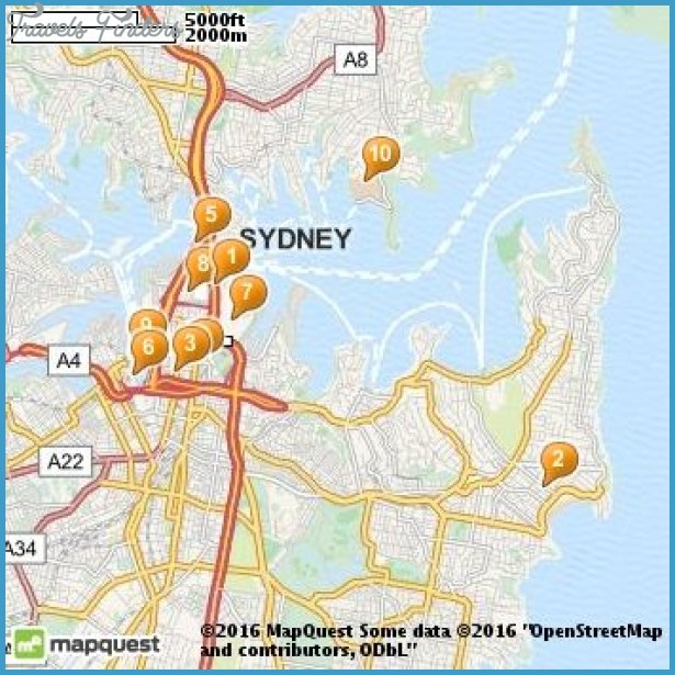 Sydney Map Tourist Attractions – Sydney Australia Tourist Attractions Map