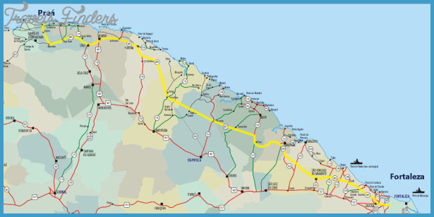 Fortaleza Subway Map TravelsFindersCom