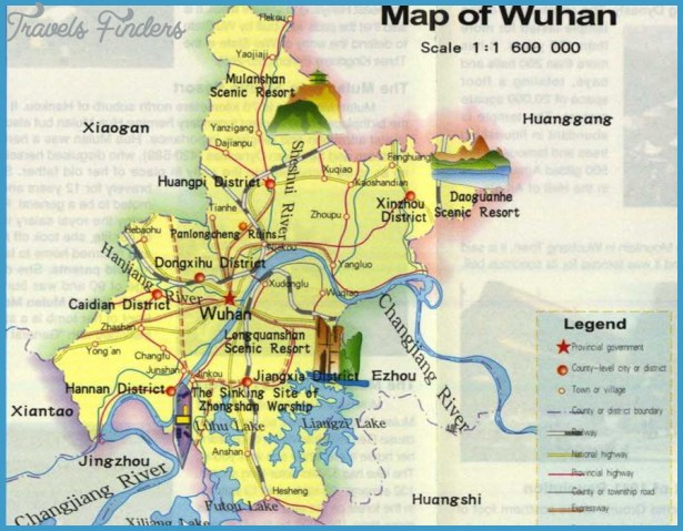 Wuhan map china archives travelsfinders wuhan map gumiabroncs Image collections