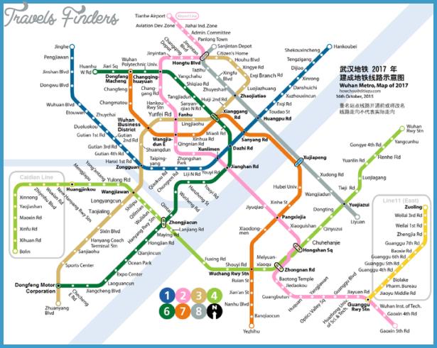 Wuhan Subway Map TravelsFindersCom