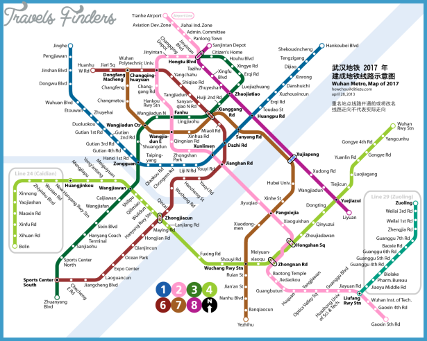 Wuhan Subway Map Travelsfinders Com