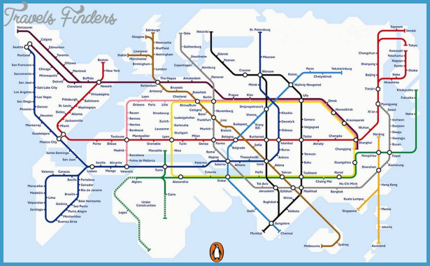 Europe Metro Map - TravelsFinders.Com ®