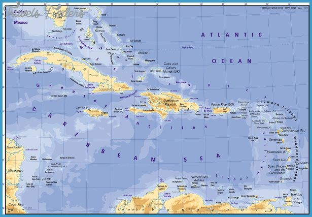 Caribbean Map Travel Map Vacations TravelsFindersCom - Caribbean map