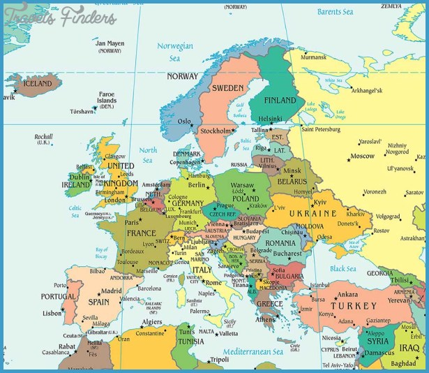 Europe Map Travelsfinders Com