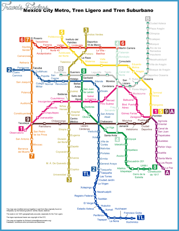 Mexico City Metro Map Travelsfinders Com