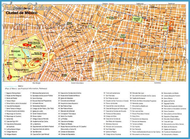Mexico City Map Tourist Attractions Travelsfinders ®: Tourist Map Of Mexico City At Infoasik.co