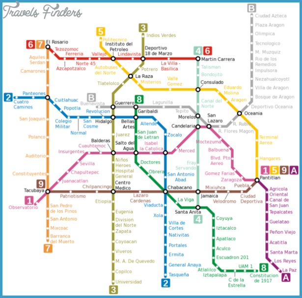 Mexico Map Tourist Attractions Travel Map Vacations – Tourist Map of Mexico City