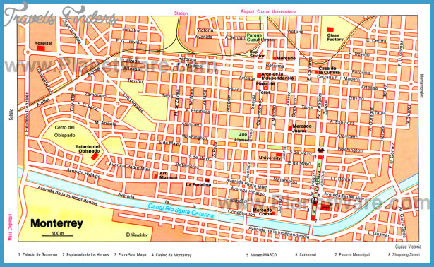 click to on photo for next mexico city map tourist attractions images