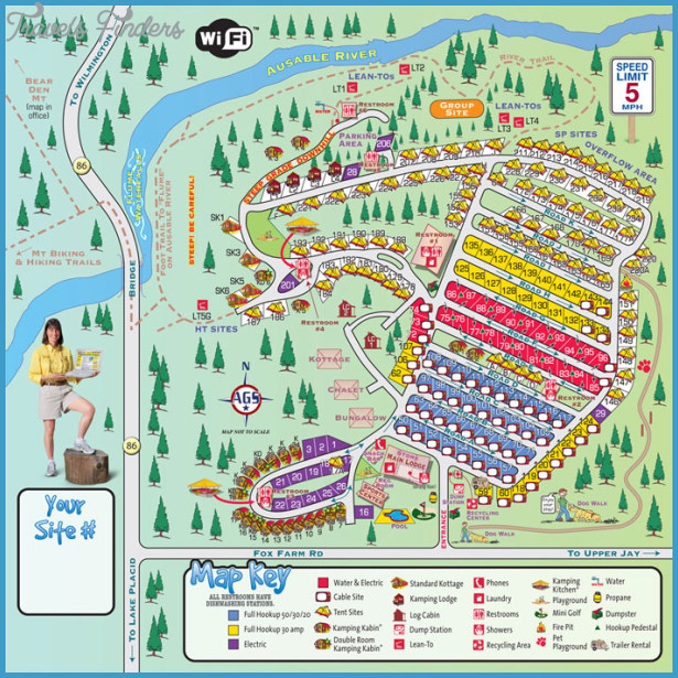 New York map lake placid - TravelsFinders.Com ®