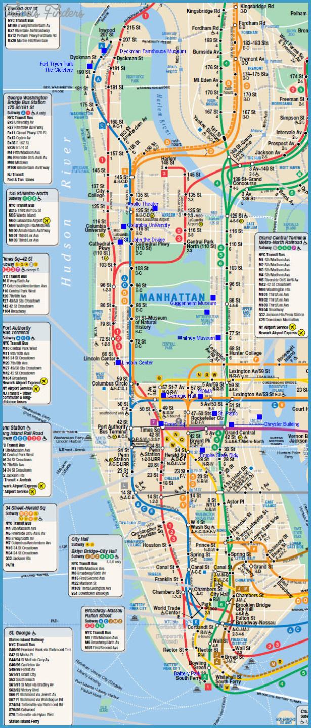 new york map manhattan  travelsfinders