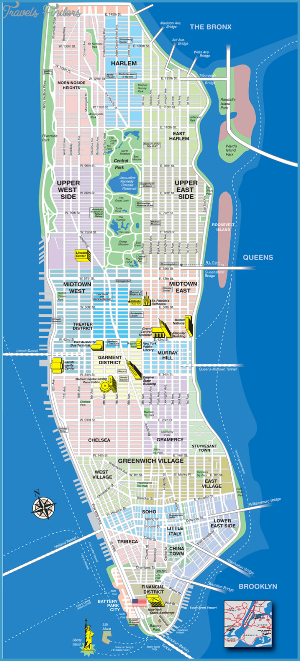 printable map of manhattan new york map manhattan travelsfinders 24076