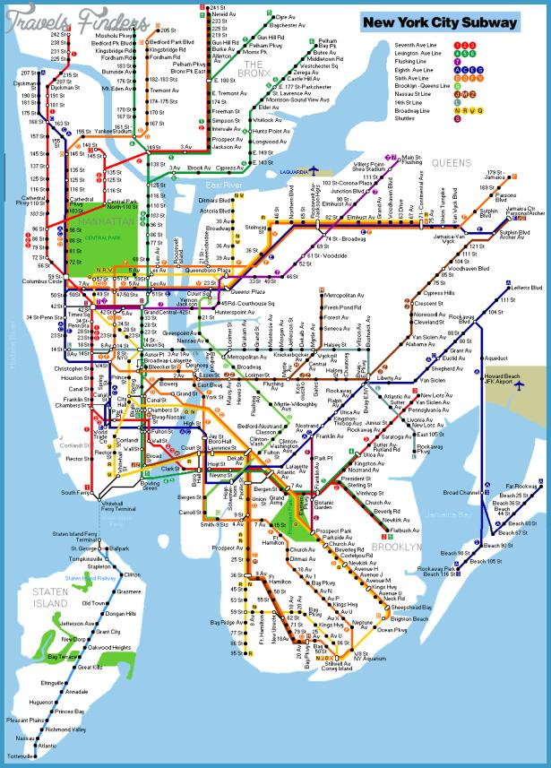 New York Map Subway  Travel  Map  Vacations