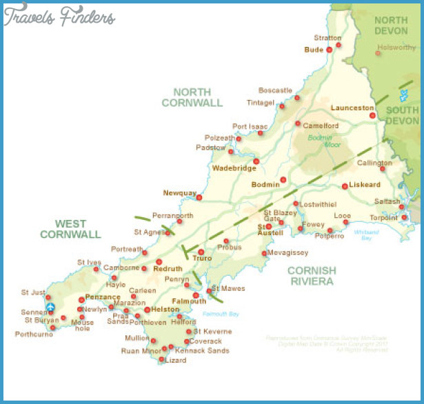 England Map Tourist Attractions Travelsfinders Com