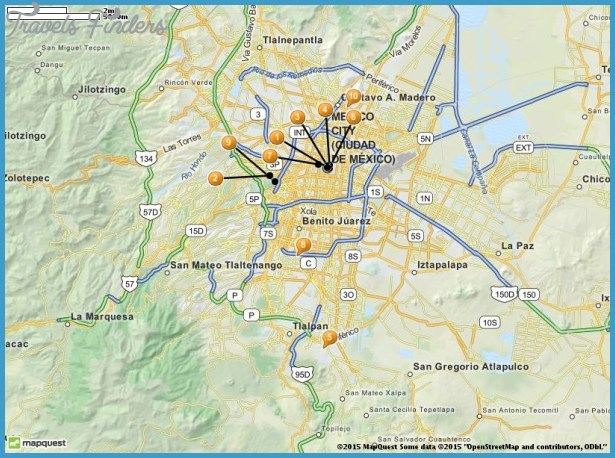Mexico City Map Tourist Attractions – Tourist Attractions Map In Mexico