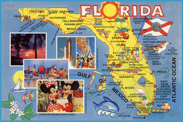 Florida Map Tourist Attractions TravelsFindersCom - Flordia map