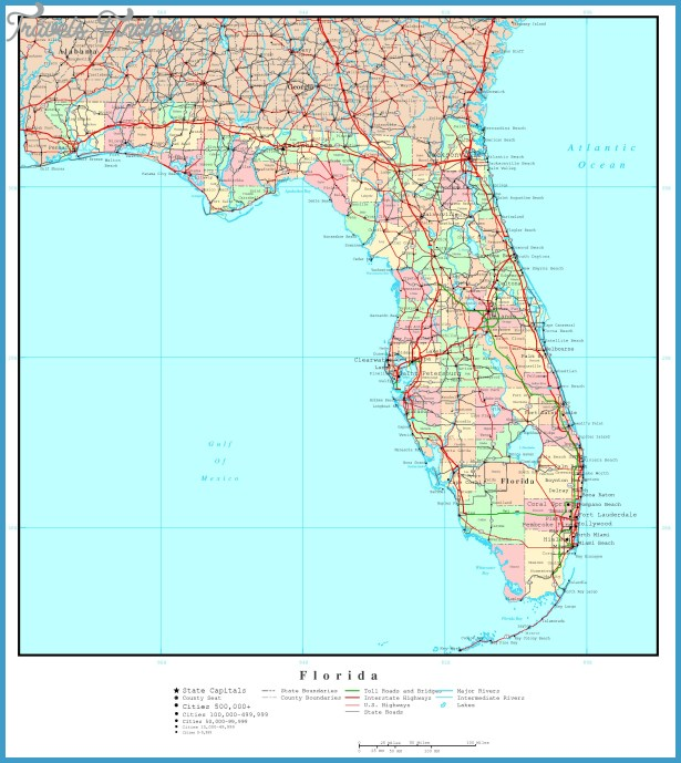 Florida Map TravelsFindersCom