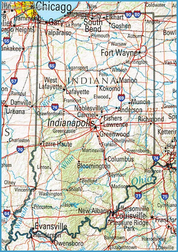 Indiana Map Tourist Attractions – Indiana Tourist Attractions Map