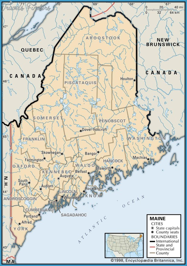 Maine metro map travelsfinders com for State of maine fishing license