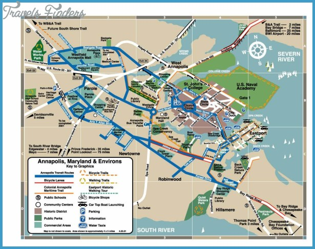 Maryland Map Tourist Attractions Travel Map Vacations