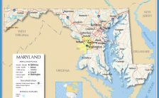 map of maryland counties Archives - TravelsFinders.Com ®