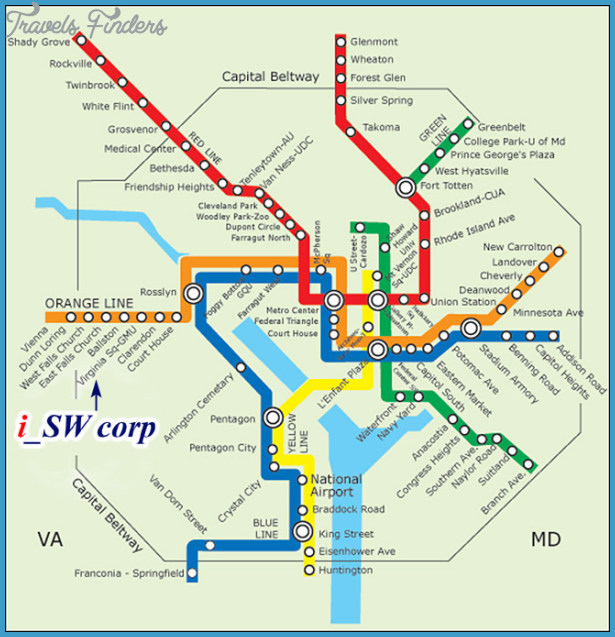 Maryland Metro Map  Travel  Map  Vacations