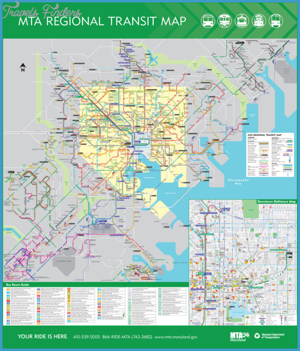 Maryland Subway Map  Travel  Map  Vacations