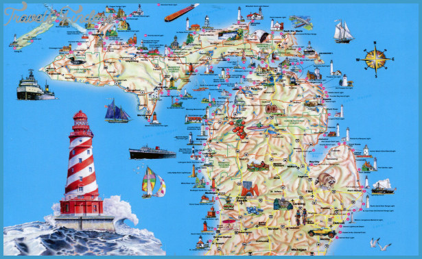Michigan Map Tourist Attractions Travel Map Vacations - Micigan map