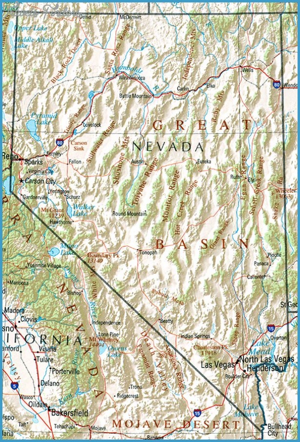 Nevada Map Tourist Attractions – Nevada Tourist Attractions Map