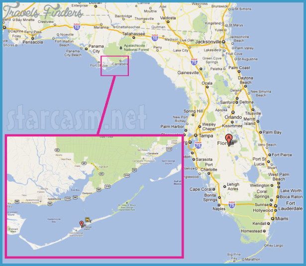St George Island State Park Map Florida Travelsfinders Com