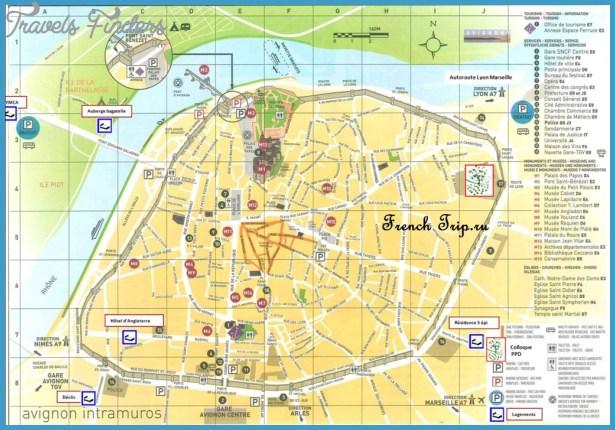 AVIGNON MAP TravelsFindersCom