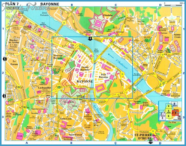 BAYONNE MAP TravelsFindersCom