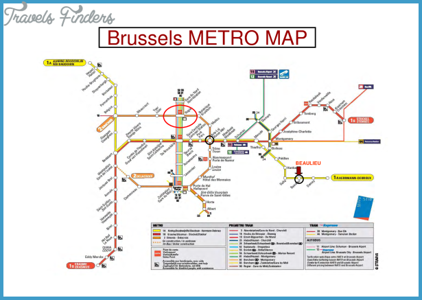 Belgium Metro Map TravelsFindersCom
