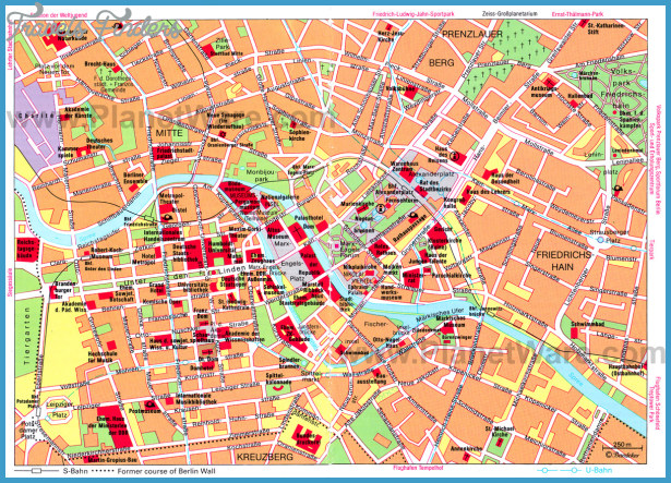 Berlin Map Tourist Attractions | TravelsFinders.Com ®