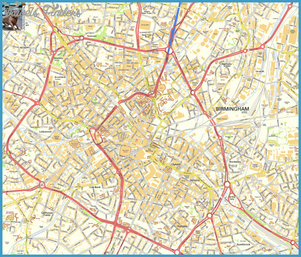 BIRMINGHAM MAP  Travel  Map  Vacations  TravelsFindersCom