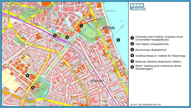 BONN MAP TravelsFindersCom