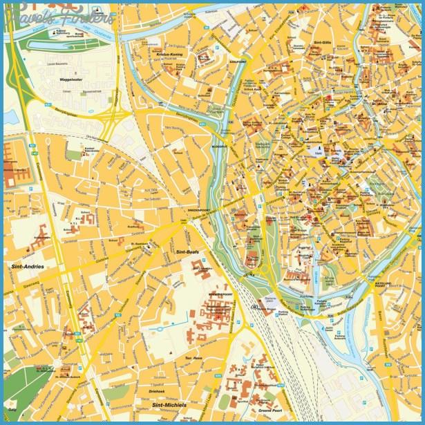 Bruges Map TravelsFindersCom